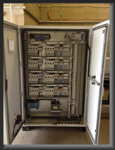 Omron PLC Control panel with Eaton Smartwire